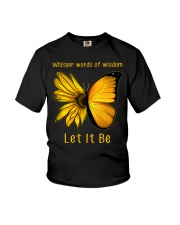 Sunflower Butterfly Let It Be Youth T-Shirt thumbnail