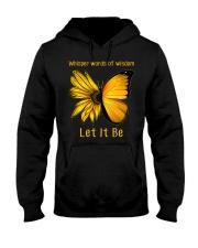 Sunflower Butterfly Let It Be Hooded Sweatshirt thumbnail