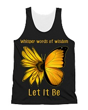 Sunflower Butterfly Let It Be All-over Unisex Tank thumbnail
