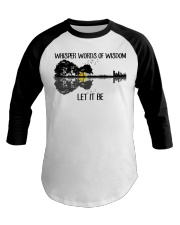 Whisper Words Of Wisdom Let It Be Guitar Lake Baseball Tee thumbnail