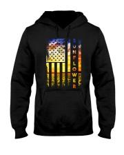 Sunflower American Flag Front No2 Hooded Sweatshirt thumbnail