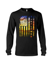 Sunflower American Flag Front No2 Long Sleeve Tee thumbnail