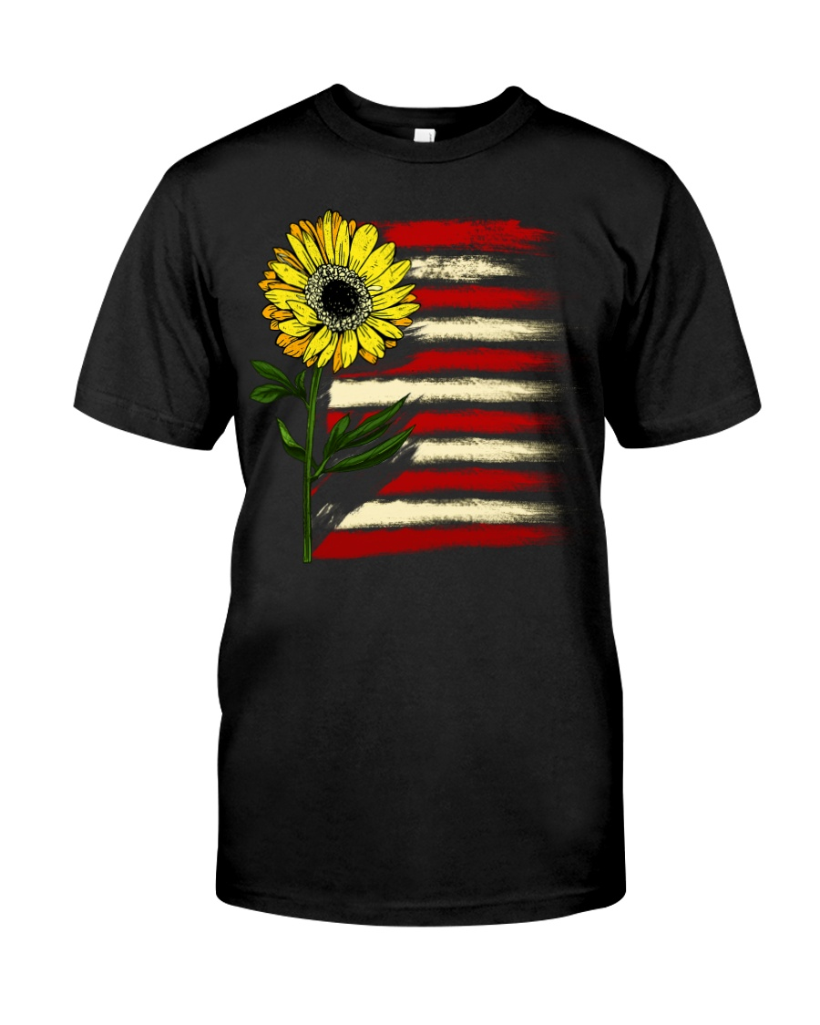 Sunflower USA Grunge Flag Classic T-Shirt
