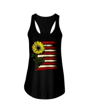 Sunflower USA Grunge Flag Ladies Flowy Tank thumbnail