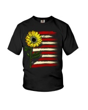 Sunflower USA Grunge Flag Youth T-Shirt tile