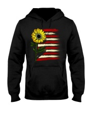 Sunflower USA Grunge Flag Hooded Sweatshirt tile