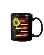 Sunflower USA Grunge Flag Mug tile