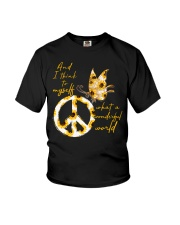 What A Wonderful World Butterfly Sunflower Youth T-Shirt thumbnail