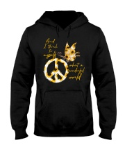 What A Wonderful World Butterfly Sunflower Hooded Sweatshirt thumbnail