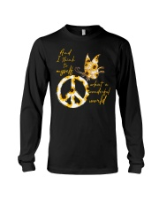 What A Wonderful World Butterfly Sunflower Long Sleeve Tee thumbnail