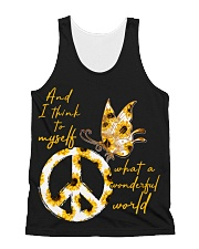 What A Wonderful World Butterfly Sunflower All-over Unisex Tank thumbnail