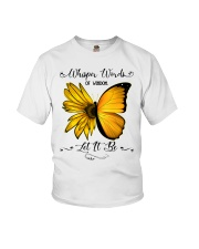 Whisper Words Of Wisdom Let It Be Sunflower Youth T-Shirt thumbnail