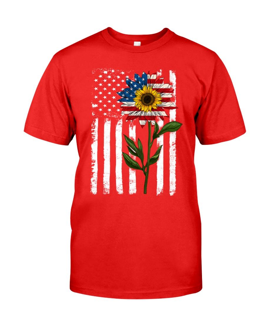 American Flag Sunflower No2 Classic T-Shirt