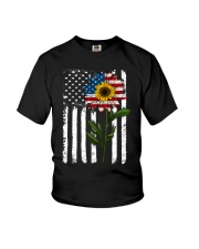 American Flag Sunflower No2 Youth T-Shirt thumbnail