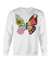 Flowers Butterfly Crewneck Sweatshirt tile