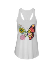 Flowers Butterfly Ladies Flowy Tank tile