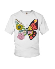 Flowers Butterfly Youth T-Shirt tile
