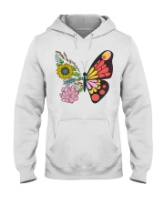 Flowers Butterfly Hooded Sweatshirt tile