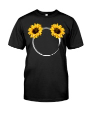 Sunflowers Circle Classic T-Shirt front