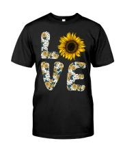 Love Sunflower Classic T-Shirt front