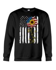 American Flag You're My Sunshine Sunflower Crewneck Sweatshirt thumbnail