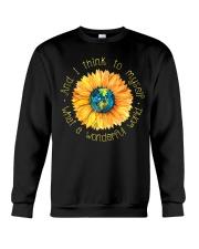 What A Wonderful World Sunflower Earth Crewneck Sweatshirt thumbnail