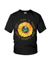 What A Wonderful World Sunflower Earth Youth T-Shirt thumbnail
