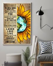 To Day Is A Good Day Sunflower Earth 16x24 Poster lifestyle-poster-1
