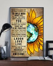To Day Is A Good Day Sunflower Earth 16x24 Poster lifestyle-poster-2
