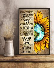 To Day Is A Good Day Sunflower Earth 16x24 Poster lifestyle-poster-3