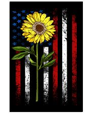American Flag Sunflower Blue Star Red Line 16x24 Poster thumbnail