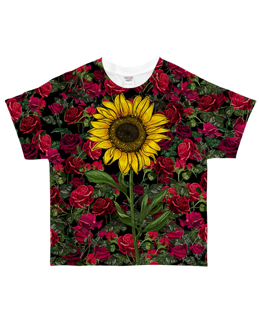 Sunflower And Roses All-over T-Shirt