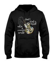 What A Wonderful World Sunflower Guitar Hooded Sweatshirt thumbnail