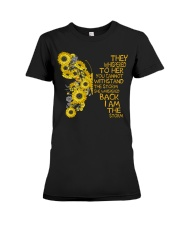 I Am The Storm Sunflower Butterfly Premium Fit Ladies Tee thumbnail