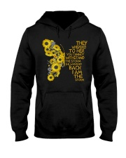 I Am The Storm Sunflower Butterfly Hooded Sweatshirt thumbnail