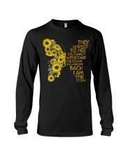 I Am The Storm Sunflower Butterfly Long Sleeve Tee thumbnail