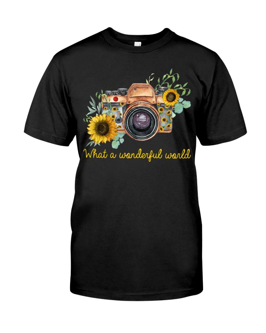 What A Wonderful World Sunflower Classic T-Shirt