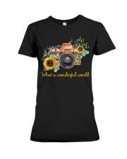 What A Wonderful World Sunflower Premium Fit Ladies Tee thumbnail