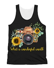 What A Wonderful World Sunflower All-over Unisex Tank thumbnail