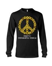 What A Wonderful World Sunflower Peace Sign Long Sleeve Tee thumbnail