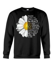 Imagine All The People Living Life In Peace Daisy Crewneck Sweatshirt thumbnail