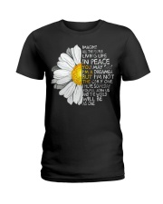 Imagine All The People Living Life In Peace Daisy Ladies T-Shirt thumbnail