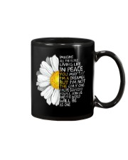Imagine All The People Living Life In Peace Daisy Mug thumbnail
