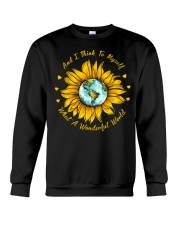 And I Think To Myself What A Wonderful World Crewneck Sweatshirt thumbnail
