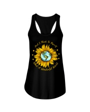And I Think To Myself What A Wonderful World Ladies Flowy Tank thumbnail