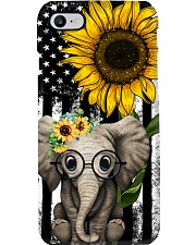 American Flag Sunflower Elephant Phone Case thumbnail