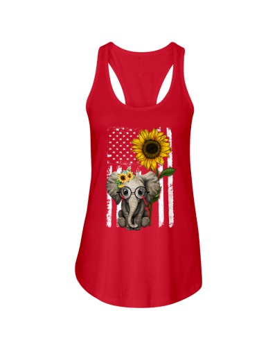 American Flag Sunflower Elephant