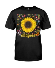 Imagine Hippie Sunflower Classic T-Shirt front