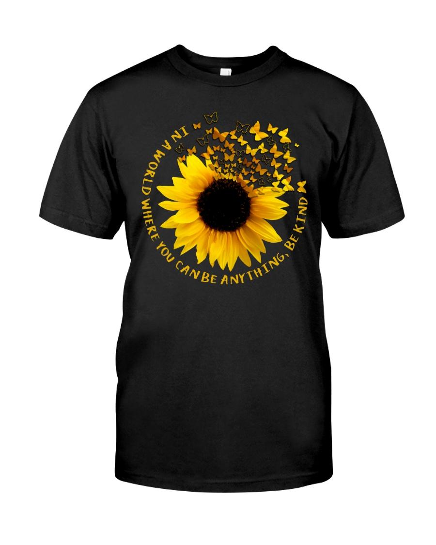 Be Kind Butterflies And Sunflower Classic T-Shirt