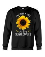 Just A Girl Who Loves Sunflowers Crewneck Sweatshirt thumbnail